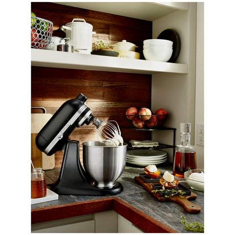 Image of Kitchenaid Stand Mixer Mini - Matt Black 5KSM3311XABM