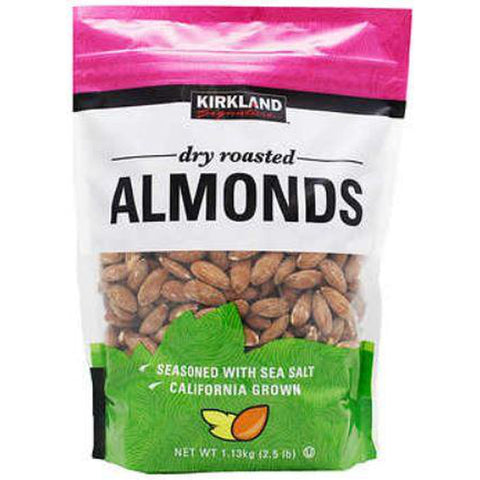Kirkland Signature Dry Roasted Almonds 1.13Kg x 2