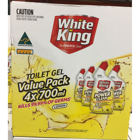 Image of White King Toilet Gel 6 x 700mL
