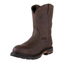 Ariat 10001198 Men's Waterproof WorkHog Pull On H2O Boots Oily Distressed Brown