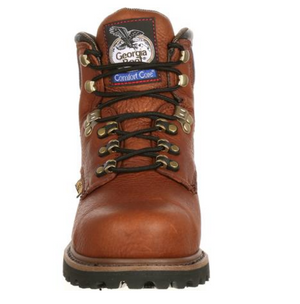 Georgia Boot Comfort Core Brown Leather Steel Toe Met Guard EH Lace Up Work Boot G6315