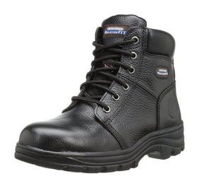 Skechers Peril Women's Black Relaxed Fit EH Steel Toe Boot Memory Foam 76561/BLK