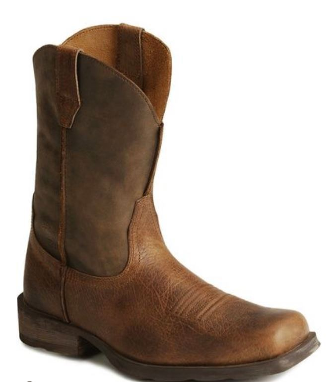 "Ariat Rambler Men's 11"" Square Toe Earth/Brown Bomber Leather Boot 10002317"