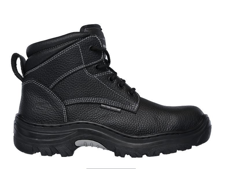 Skechers Tarlac Men's Black Steel Toe EH Puncture Resistant Work Boot 77143/BLK