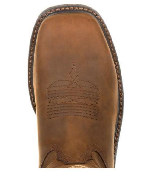 Georgia Boot Men's Brown Carbo-Tec LT Alloy Toe WP EH Pull On Work Boot GB00224