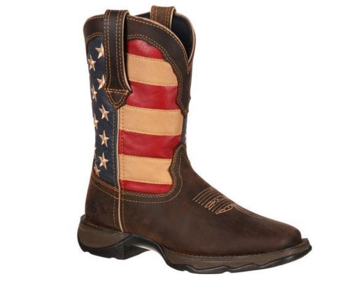 Durango Rebel Women's American Flag Pull On Western Boot RD4414