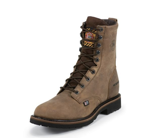 "Justin Wyoming Waterproof 8"" Work Boot WK960"