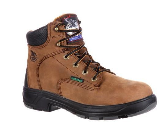 "Georgia Boot Flexpoint Composite Toe Waterproof 6"" Work Boot Comfort Core G6644"