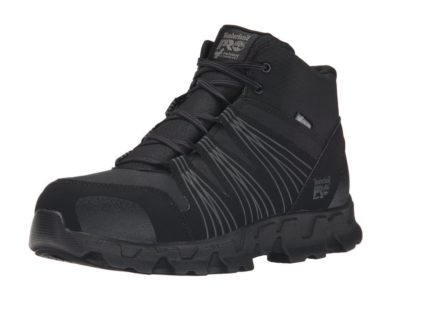 Timberland PRO Men's Powertrain Mid ESD Alloy Toe Black Hiker TB0A11QF