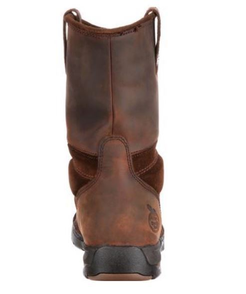 Georgia Boot Men's Brown Steel Toe EH WP Wellington Pull On Work Boot G4603