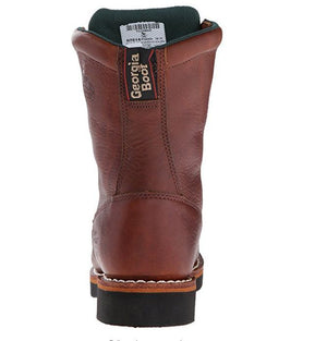 "Georgia Boot Farm and Ranch Roper Lacer 8"" Work Boot G7014"