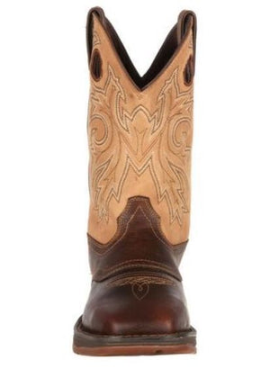Durango Rebel Men's Saddle Up Pull On Brown/Tan Leather Western Boot DB4442