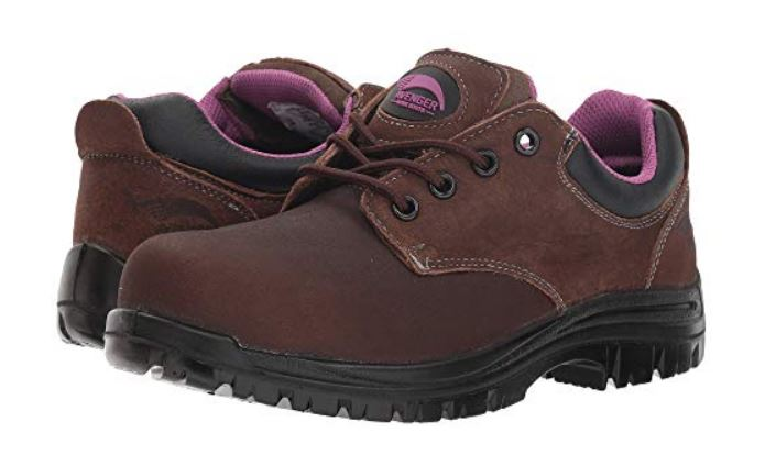 Avenger Women's Composite Toe Electrical Hazard Slip/Oil Resistant Waterproof Work Shoe 7164