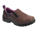 Avenger Women's Brown Comp Toe EH SR Waterproof Slip-On Work Shoe A7165