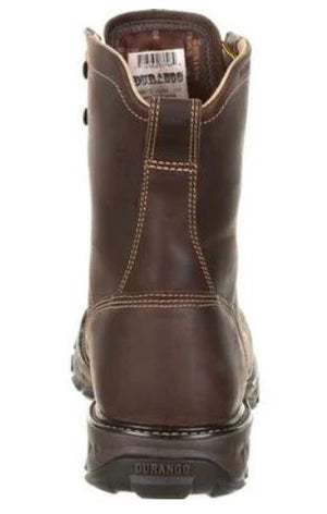 Durango Maverick Men's Brown Leather Steel Toe WP EH Lace-Up Work Boot DDB0173