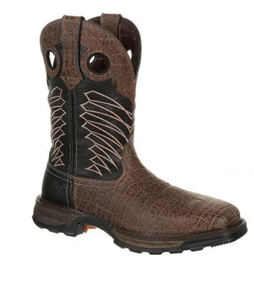 Durango Maverick Men's Brown Leather Steel Toe WP EH Pull-On Work Boot DDB0176