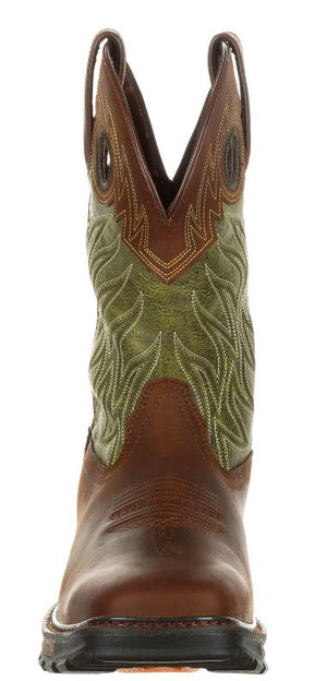 Durango Maverick Men's Brown Leather Waterproof Pull-On Work Boot DDB0177