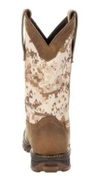 Durango Maverick Men's Brown Leather Steel Toe WP EH Pull-On Work Boot DDB0207