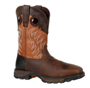 Durango Maverick XP Men's Brown Leather Steel Toe WP EH Pull-On Work Boot DDB0215