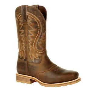 Durango Maverick Men's Brown Leather Steel Toe WP EH Pull-On Work Boot DDB0297