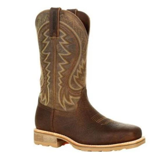 Durango Maverick Men's Brown Leather Steel Toe  EH Pull-On Work Boot DDB0298