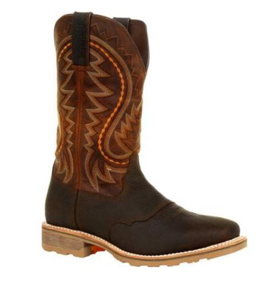 Durango Maverick Men's Brown Leather Steel Toe WP EH Pull-On Work Boot DDB0299