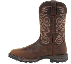 Durango Maverick Men's Brown Leather Steel Toe WP EH Pull-On Work Boot DDB0206