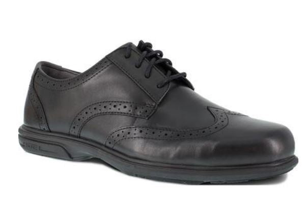 Florsheim Men's Steel Toe Static-Dissipative Black Dress Wingtip Oxford Shoe  FS2024