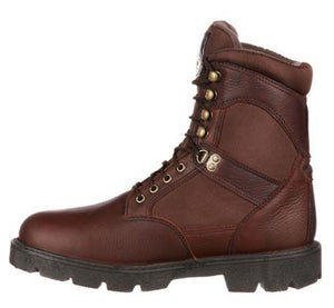Georgia Men's Brown Leather Steel Toe Electrical Hazard Waterproof Lace-Up Work Boot G107