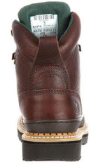 Georgia Women's Brown Leather Steel Toe Electrical Hazard Lace-Up Work Boot G3374