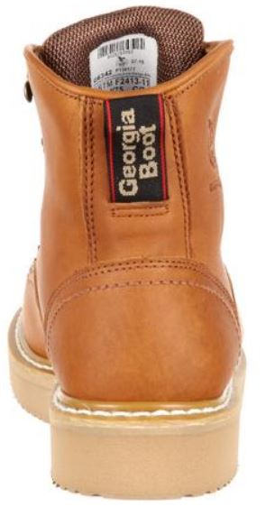 "Georgia Men's Light Brown Leather Steel Toe Lace-Up 6"" Work Boots G6342"