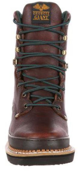 Georgia Men's Brown Leather Steel Toe Electrical Hazard Lace-Up Work Boot G8374