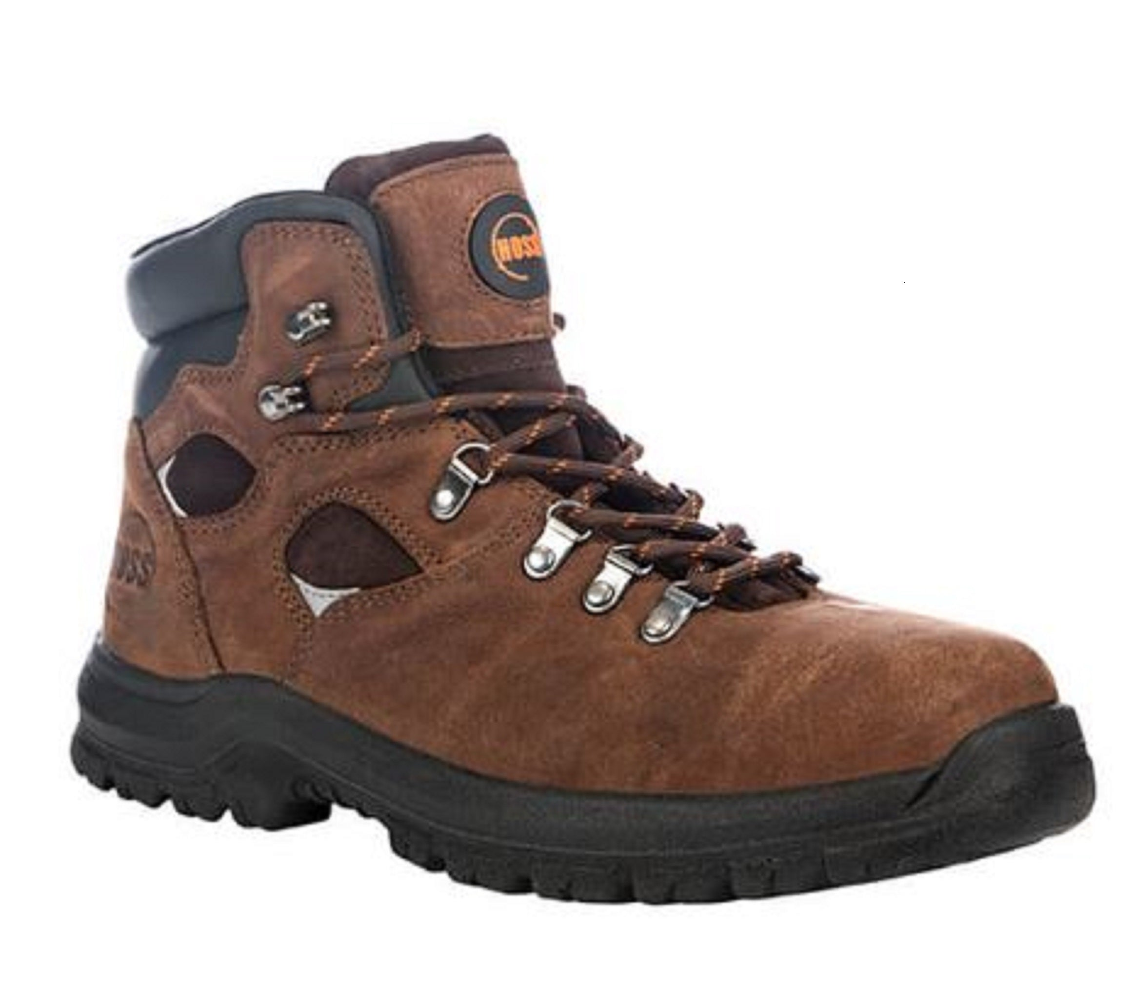 Hoss Men's Brown Steel Toe Electrical Hazard Waterproof Work Boot 60421