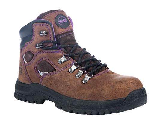 Hoss Women's Lily Brown Leather Steel Toe Electrical Hazard Work Boot 70423