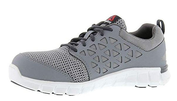 ... Reebok Sublite Men s Grey Alloy Toe EH Slip Resistant Cushioned Work  Shoe RB4042 ... 1f852545a