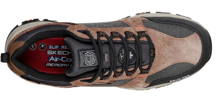 Skechers Men's Brown Composite Toe Electrical Hazard Waterproof Sneaker 77183