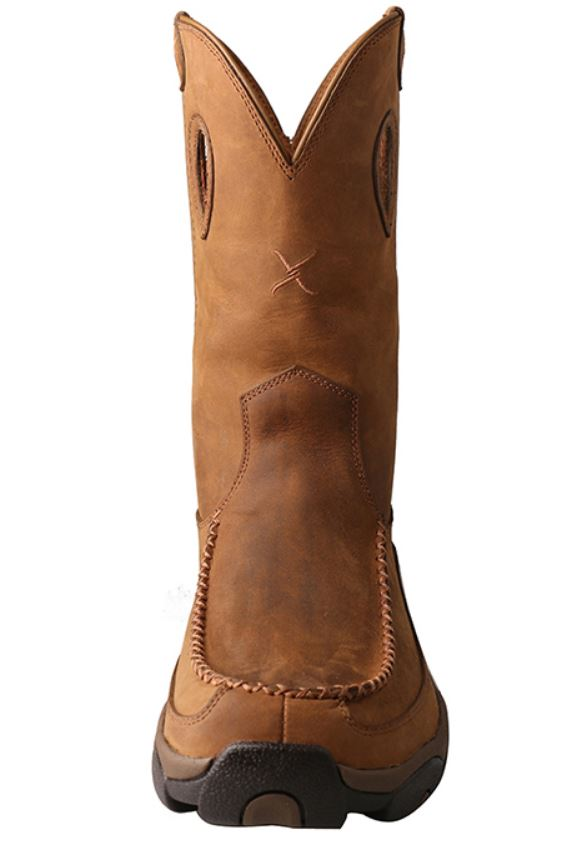 Twisted X Men's Distressed Saddle Waterproof Soft Toe Work Boot MHKBW01