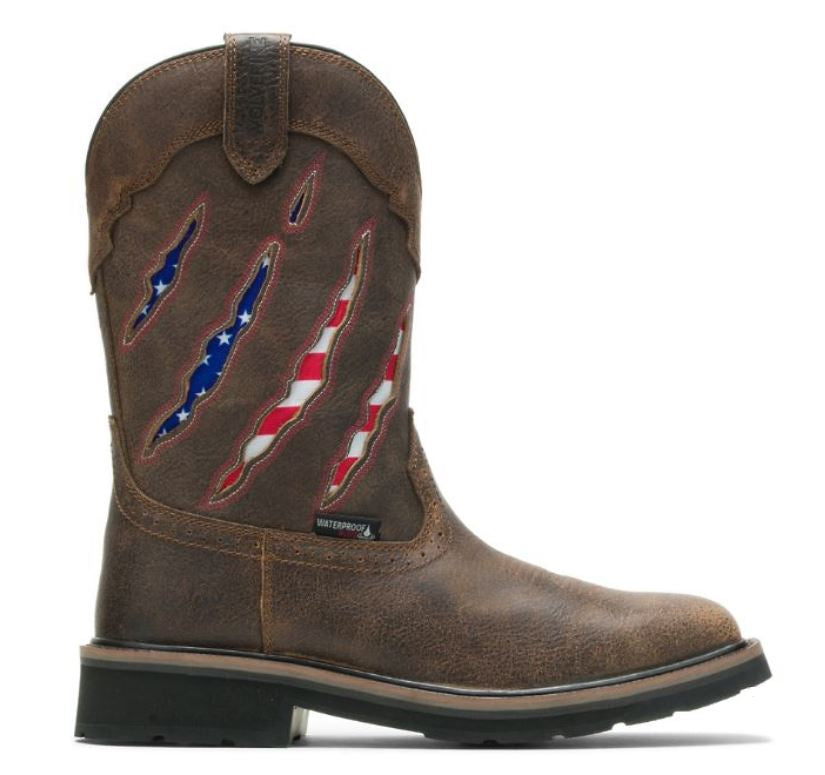 Wolverine Men's Rancher Claw Wellington Flag Boots W200138