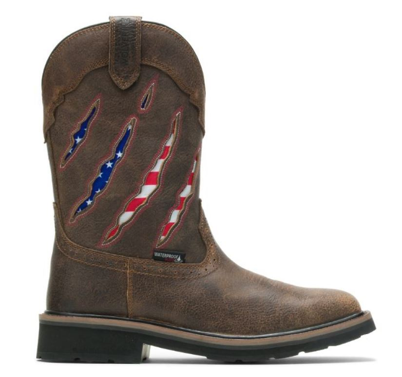 Wolverine Men's Steel Toe Rancher Claw Wellington Flag Boots W201218