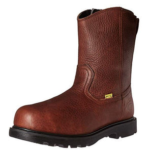 Iron Age Hauler Men's Internal Metatarsal Guard EH Composite Toe Side Zip Wellington Work Boot IA0195
