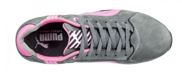 260a2d74cf3 ... PUMA Balance Women s Low Pink Gray Steel Toe Water Resistant Static  Dissipative Work Shoes 642865 ...