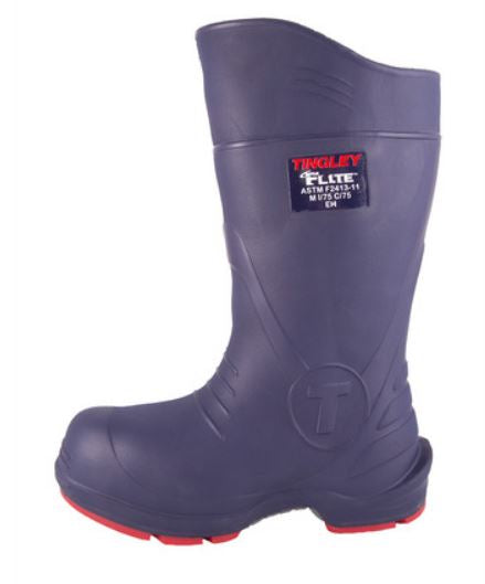 Tingley Flite Blue Rubber Composite Toe Chemical Resistant Slip Resistant Boot 26256