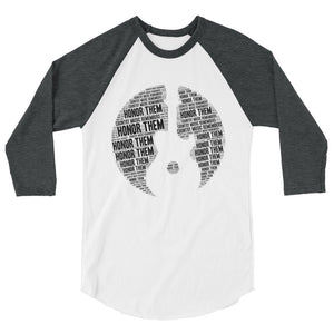 Country Music Remembers 3/4 sleeve raglan shirt