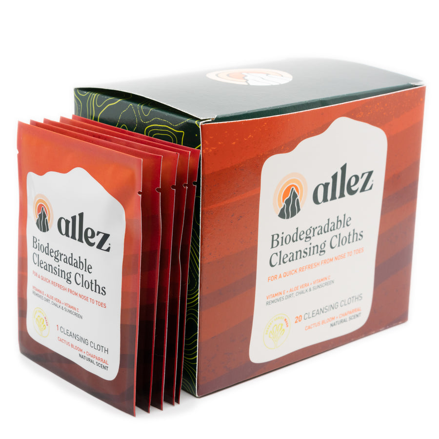 Allez Biodegradable Cleansing Cloths - 20 pack