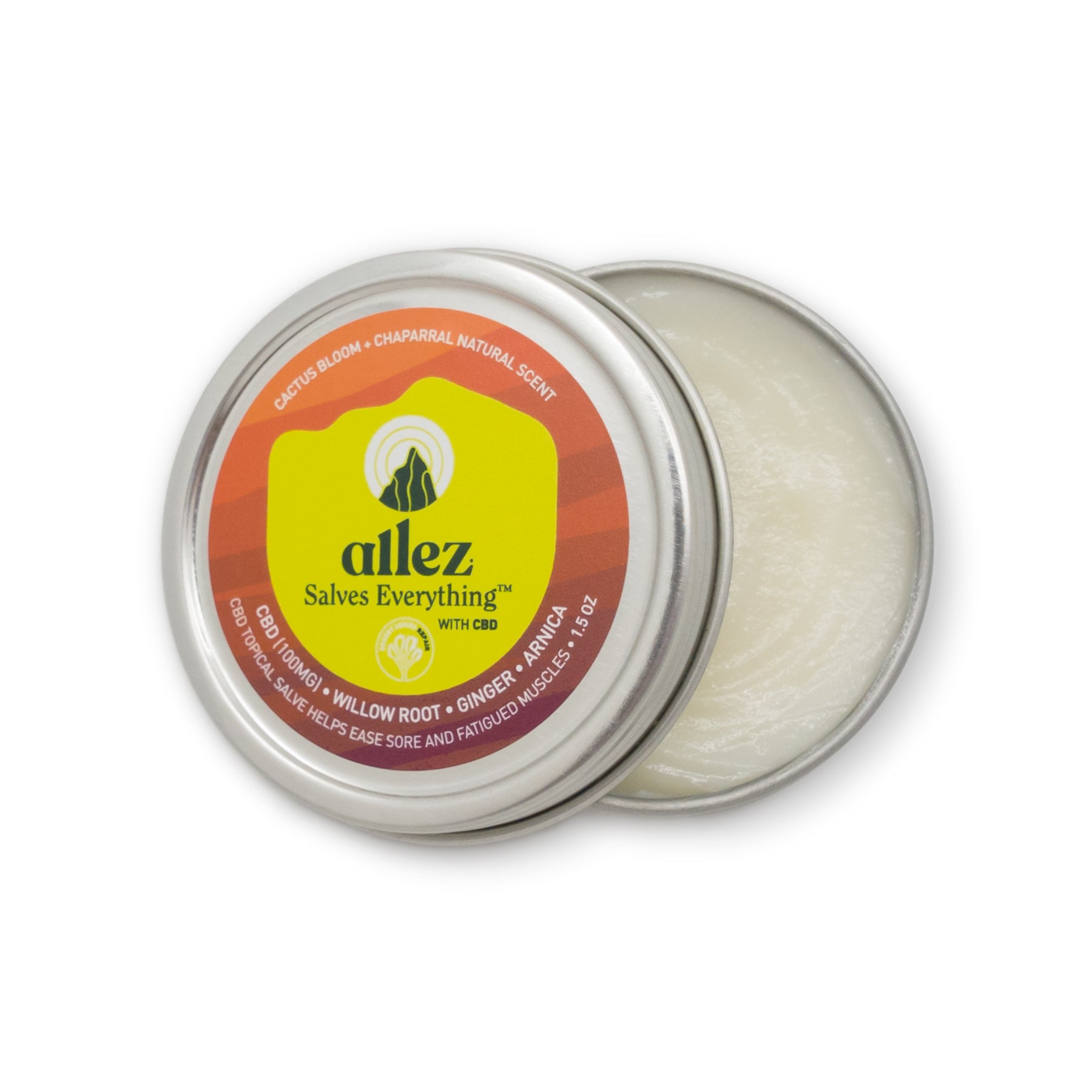 Allez Salves Everything with CBD - RECOVER with Willow Bark - Ginger Root - Arnica - 1.5 oz