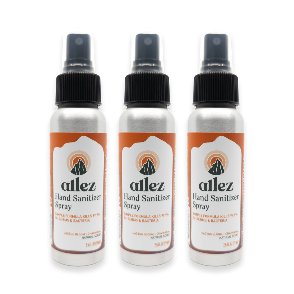 Allez Hand Sanitizer Spray - Three Pack of 2.5 oz bottles