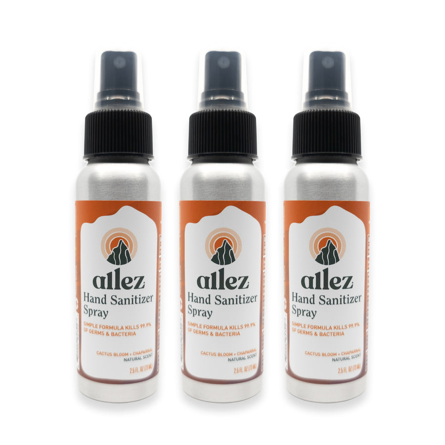 Allez Hand Sanitizer Spray - 3 Pack