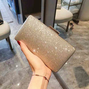Bridal Clutch Wedding Handbag with Sparkly Glitter Design