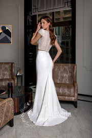 [RENT OR BUY] 'Korsika' Bridal Beaded Top and Fitted Mermaid Skirt Wedding Dress