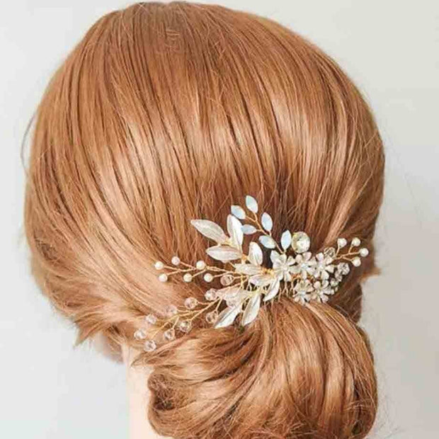 Crystal and Floral Design Bridal Wedding Accessory Hairband